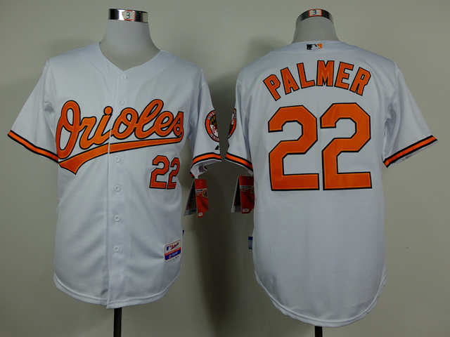 Men Baltimore Orioles 22 Palmer White Throwback MLB Jerseys