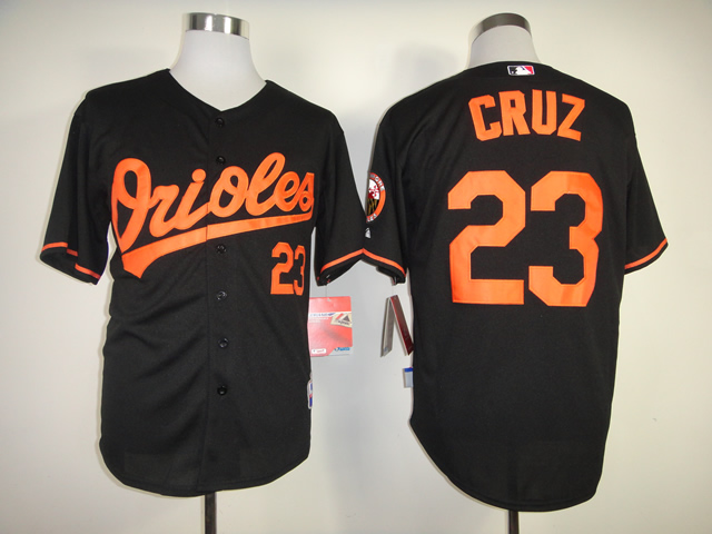 Men Baltimore Orioles 23 Cruz Black MLB Jerseys