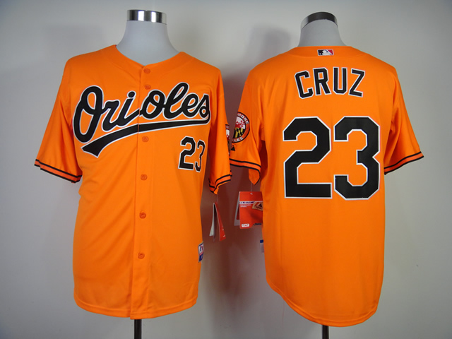 Men Baltimore Orioles 23 Cruz Orange MLB Jerseys