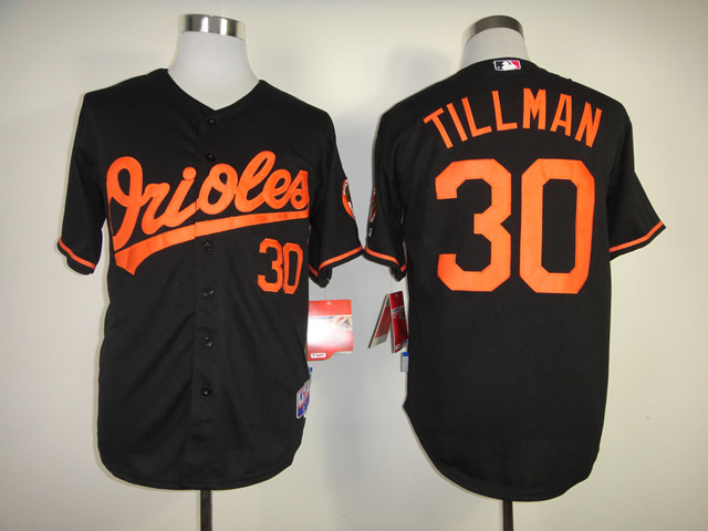 Men Baltimore Orioles 30 Tillman Black MLB Jerseys