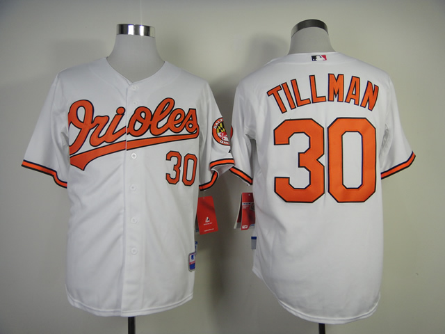Men Baltimore Orioles 30 Tillman White MLB Jerseys