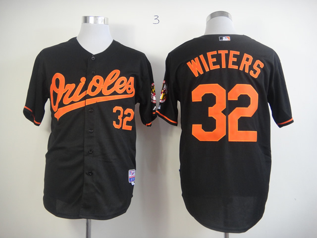 Men Baltimore Orioles 32 Wieters Black MLB Jerseys