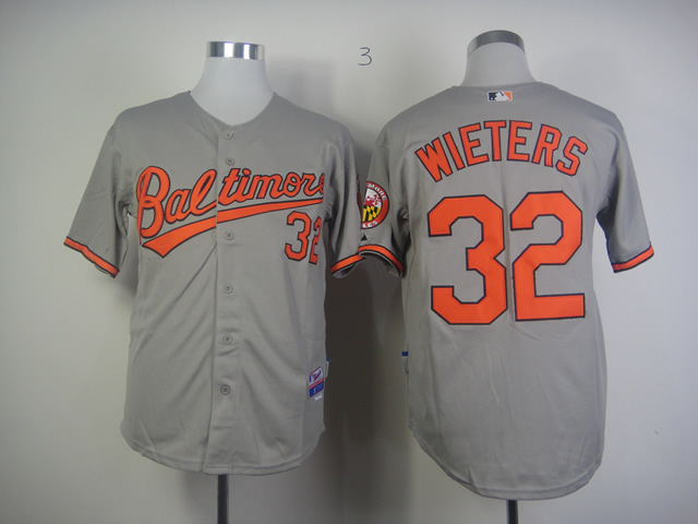 Men Baltimore Orioles 32 Wieters Grey MLB Jerseys