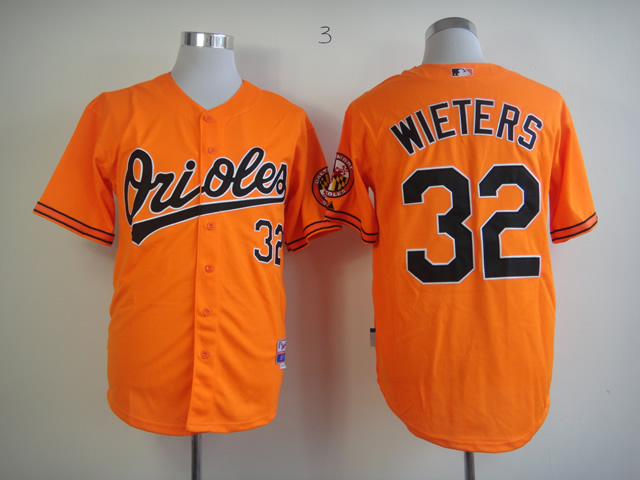 Men Baltimore Orioles 32 Wieters Orange MLB Jerseys