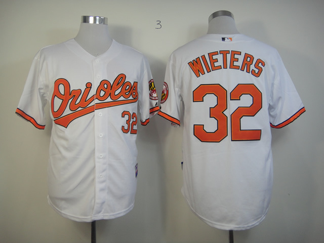 Men Baltimore Orioles 32 Wieters White MLB Jerseys