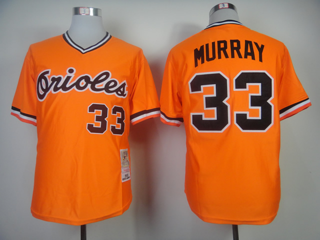 Men Baltimore Orioles 33 Murray Orange Throwback 1982 MLB Jerseys