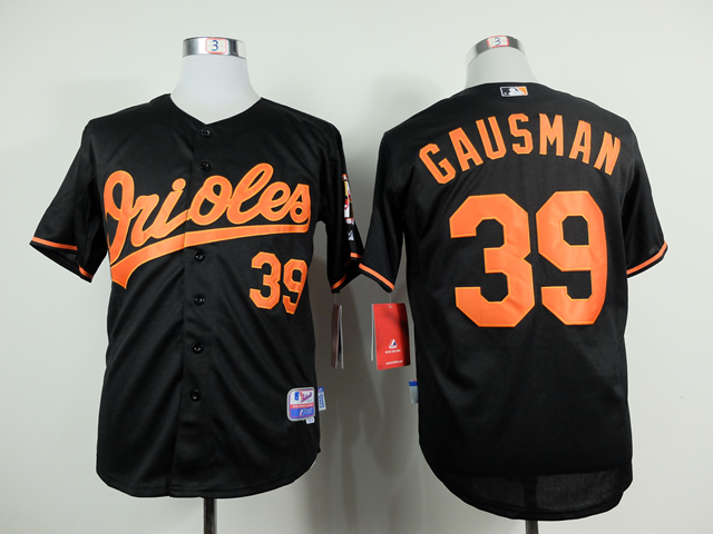 Men Baltimore Orioles 39 Gausman Black MLB Jerseys