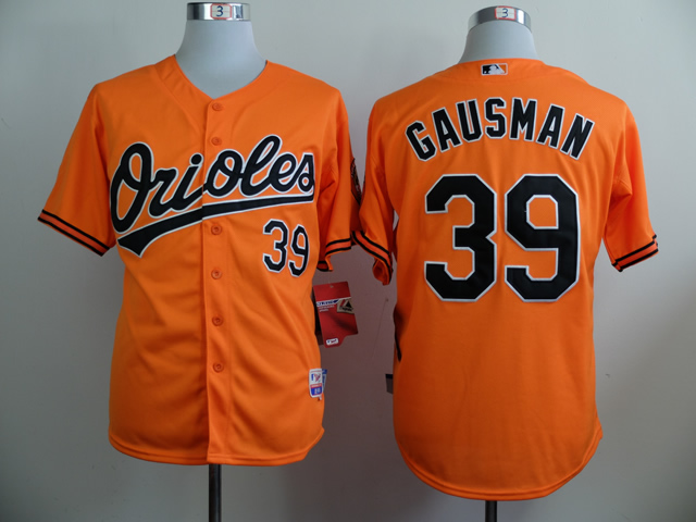 Men Baltimore Orioles 39 Gausman Orange MLB Jerseys
