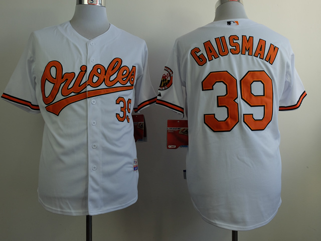 Men Baltimore Orioles 39 Gausman White MLB Jerseys