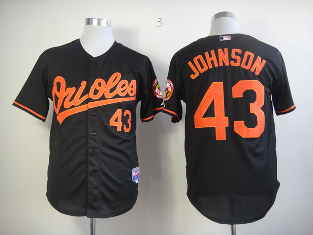 Men Baltimore Orioles 43 Johnson Black MLB Jerseys