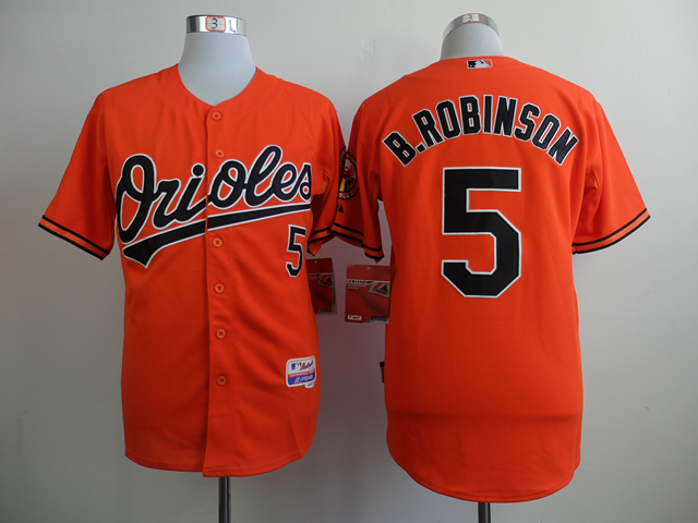 Men Baltimore Orioles 5 B.Robinson Orange MLB Jerseys