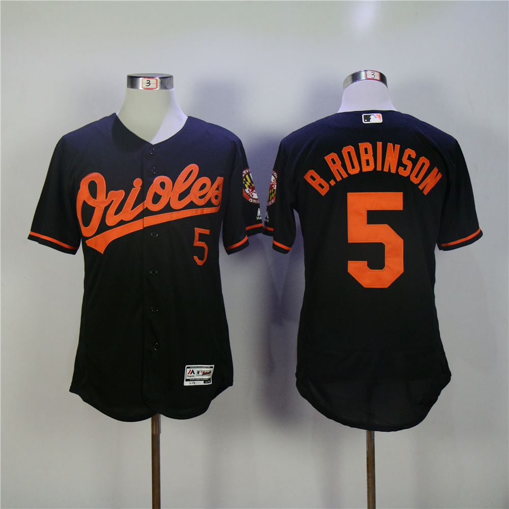 Men Baltimore Orioles 5 Robinson Black Elite MLB Jerseys