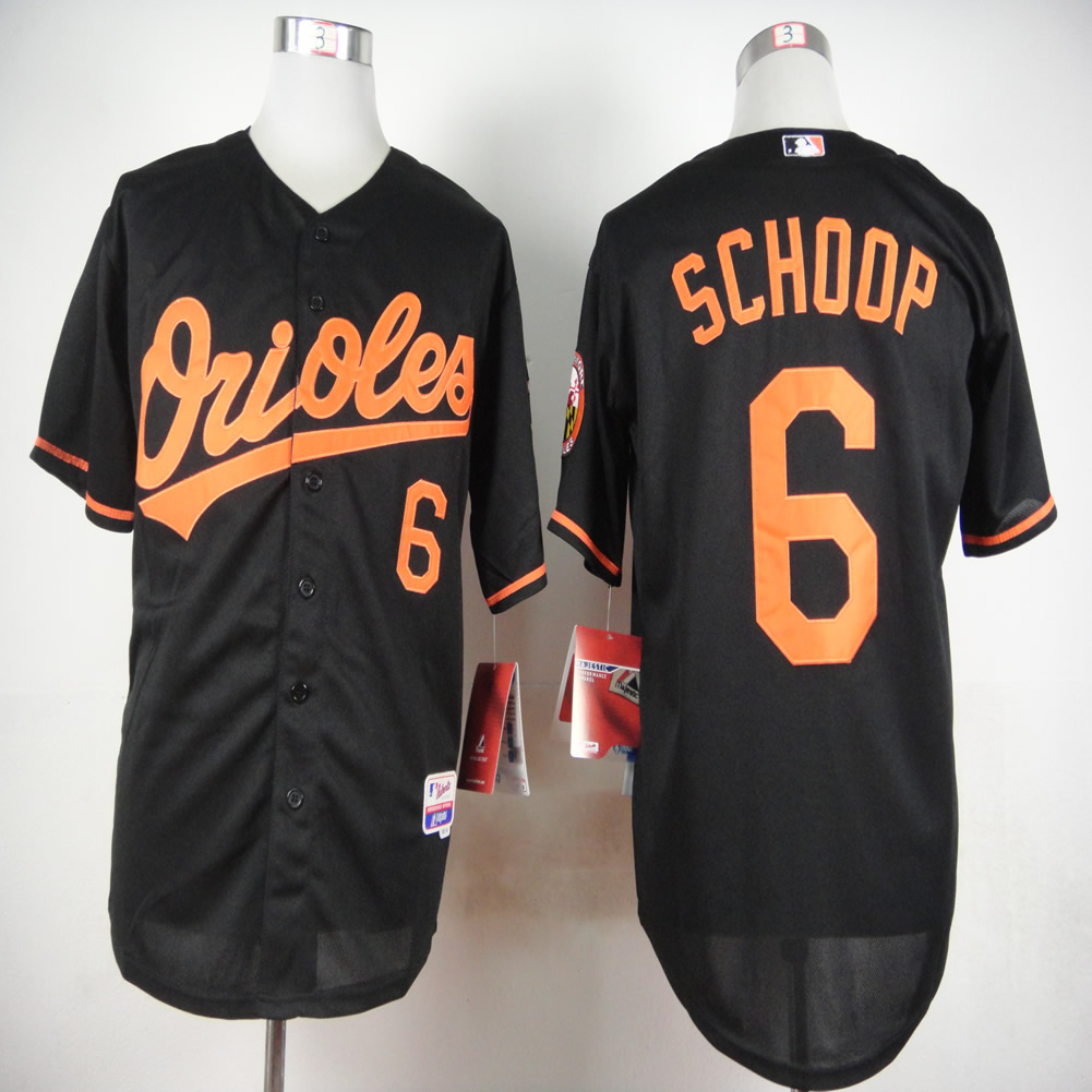 Men Baltimore Orioles 6 Schoop Black MLB Jerseys
