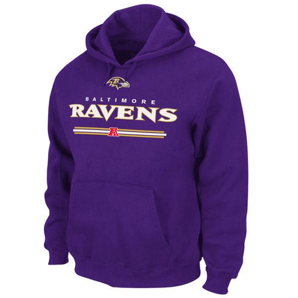 Men Baltimore Ravens Critical Victory VI HoodiePurple