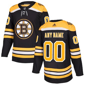 Men Boston Bruins Custom Black NHL Adidas Jersey