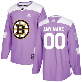Men Boston Bruins Custom purple NHL Adidas Jersey