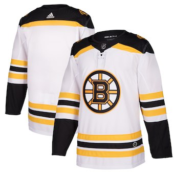 Men Boston Bruins Custom white NHL Adidas Jersey