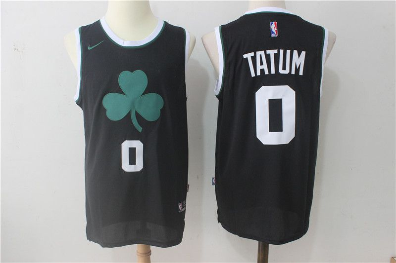 Men Boston Celtics 0 Tatum Black Nike Nike Black Fashion Swingman NBA Jersey