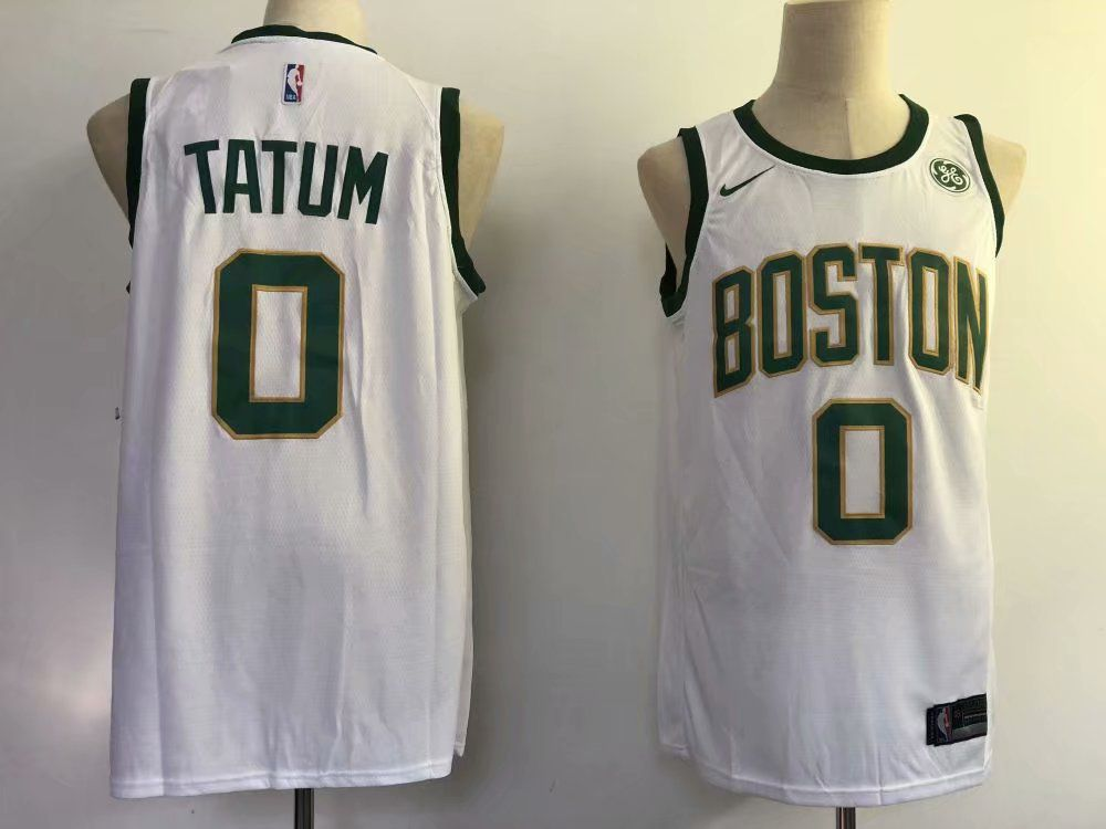 Men Boston Celtics 0 Tatum White City Edition Game Nike NBA Jerseys