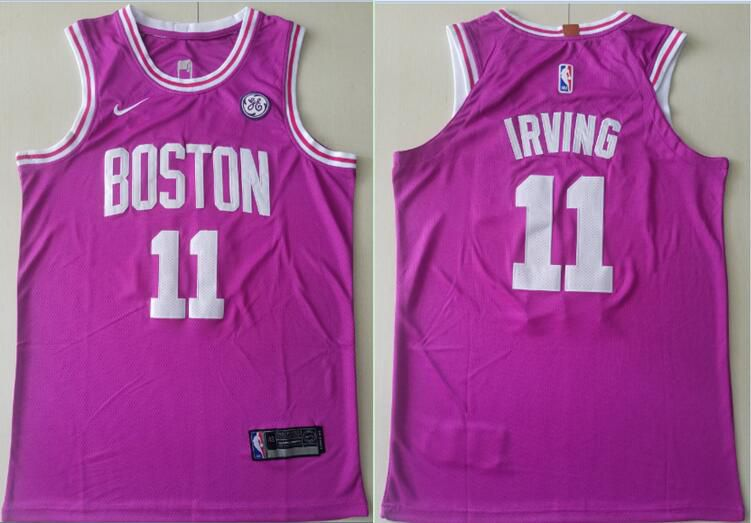 Men Boston Celtics 11 Irving Pink City Edition Game Nike NBA Jerseys