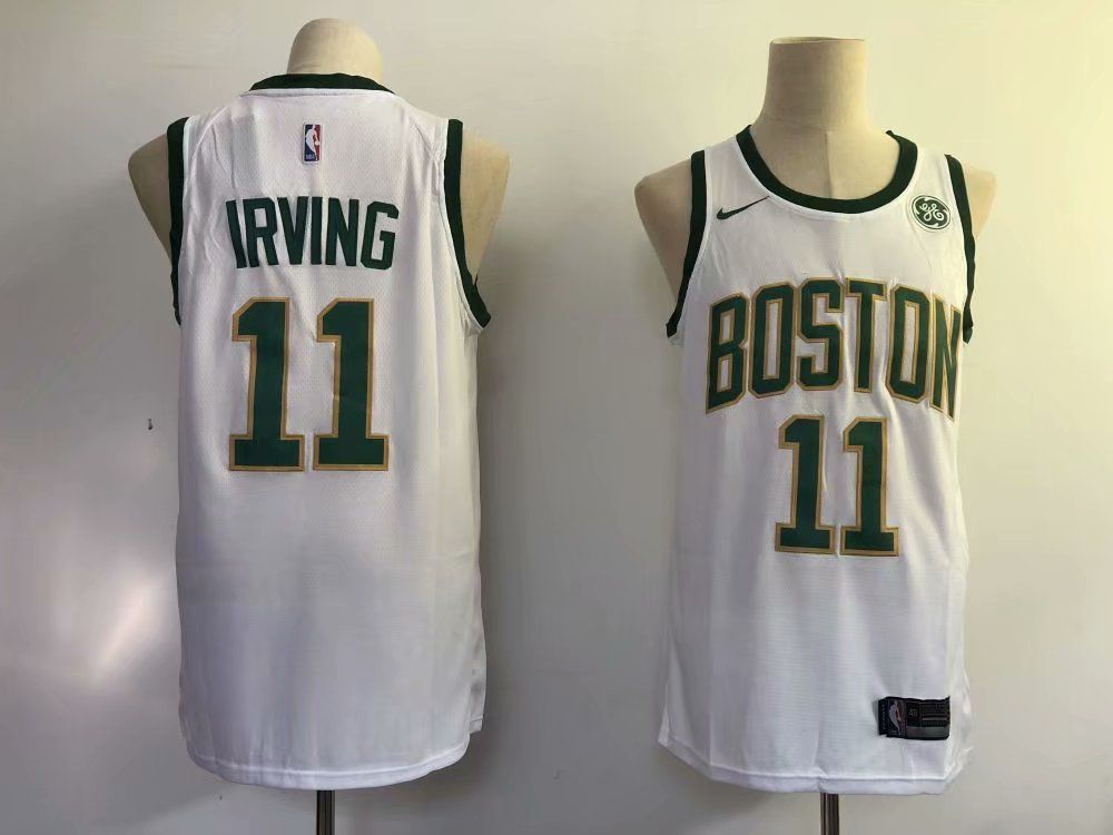 Men Boston Celtics 11 Irving White City Edition Game Nike NBA Jerseys