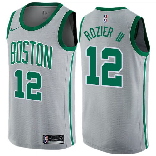 Men Boston Celtics 12 Terry Rozier III Gray Nike Swingman City Edition NBA Jersey