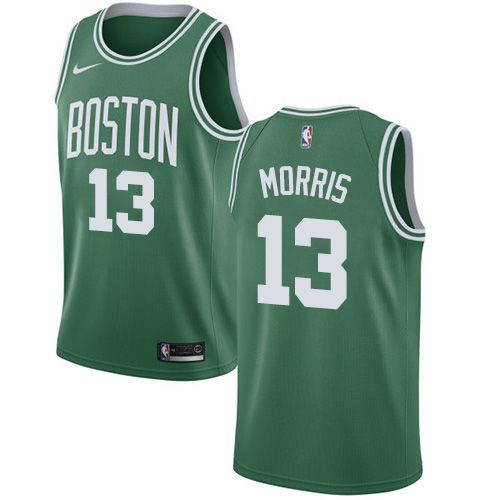 Men Boston Celtics 13 Marcus Morris Green Swingman Icon Edition NBA Jersey