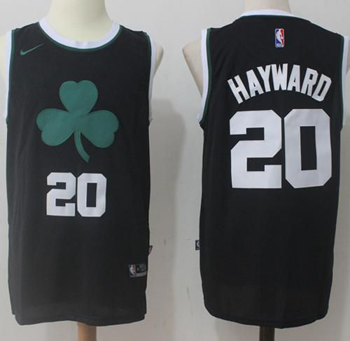 Men Boston Celtics 20 Gordon Hayward Nike Black Fashion Swingman NBA Jersey