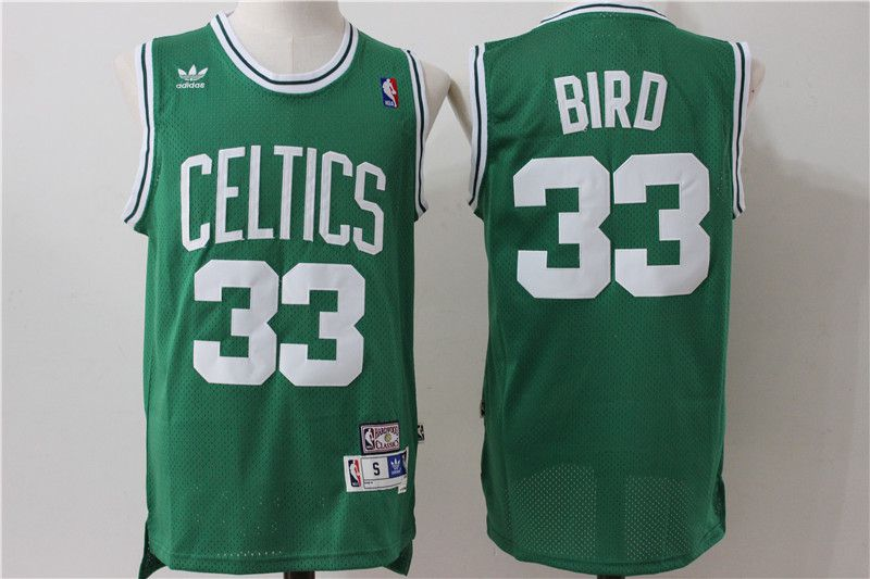 Men Boston Celtics 33 Bird Green Throwback Adidas NBA Jersey
