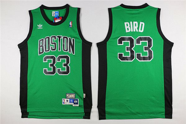 Men Boston Celtics 33 Bird green black Throwback Adidas NBA Jersey