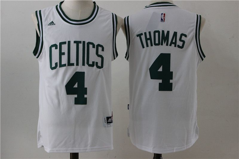 Men Boston Celtics 4 Thomas White Adidas NBA Jersey