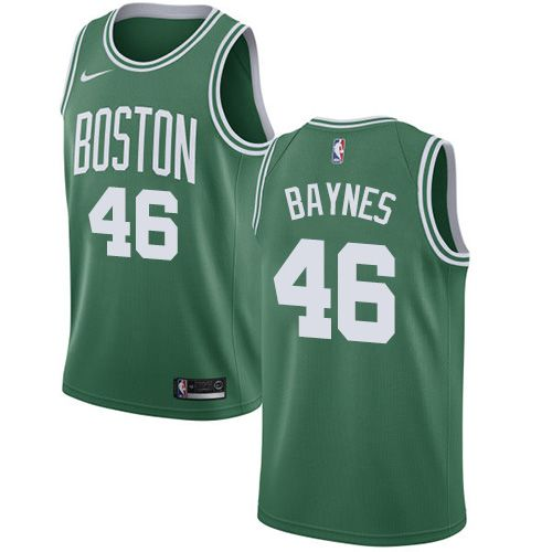 Men Boston Celtics 46 Aron Baynes Green Swingman Icon Edition NBA Jersey