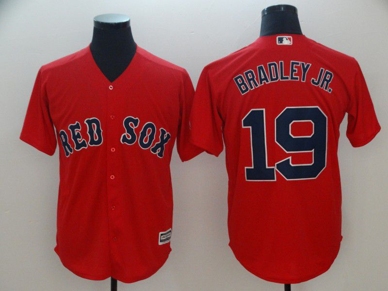 Men Boston Red Sox 19 Bradley jr Red Game MLB Jerseys