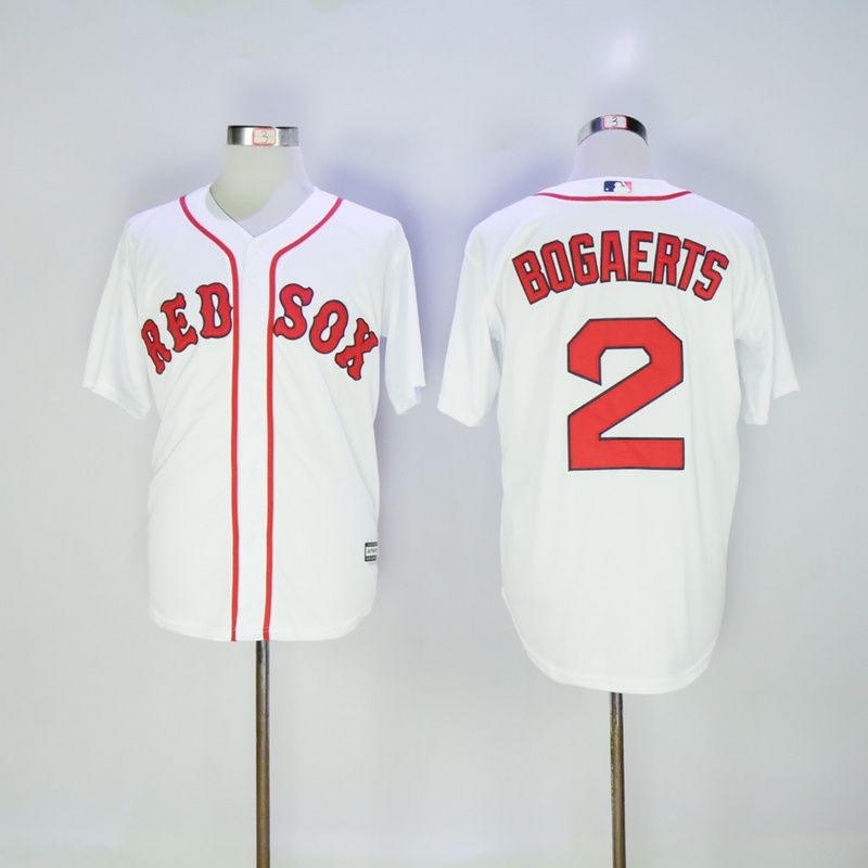 Men Boston Red Sox 2 Bogaerts White MLB Jerseys