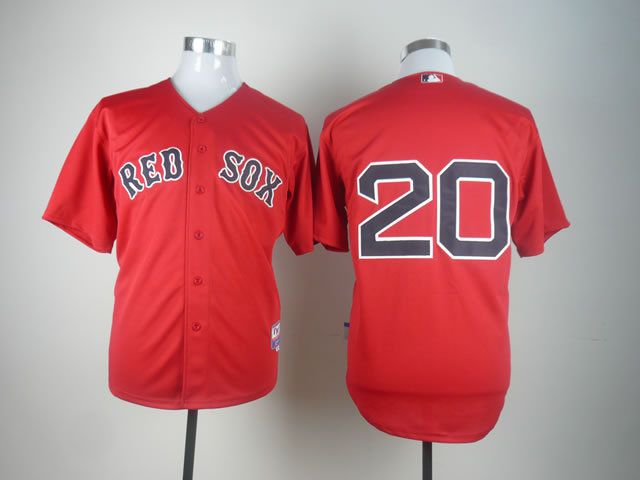 Men Boston Red Sox 20 Youkilis Red MLB Jerseys
