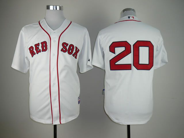 Men Boston Red Sox 20 Youkilis White MLB Jerseys