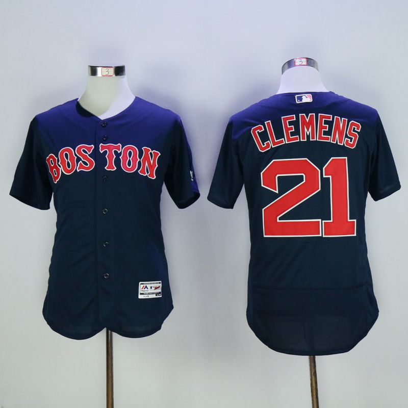 Men Boston Red Sox 21 Clemens Blue MLB Jerseys