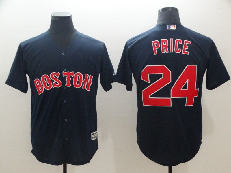 Men Boston Red Sox 24 Price Blue Game MLB Jerseys