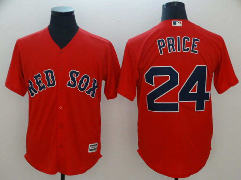 Men Boston Red Sox 24 Price Red Game MLB Jerseys