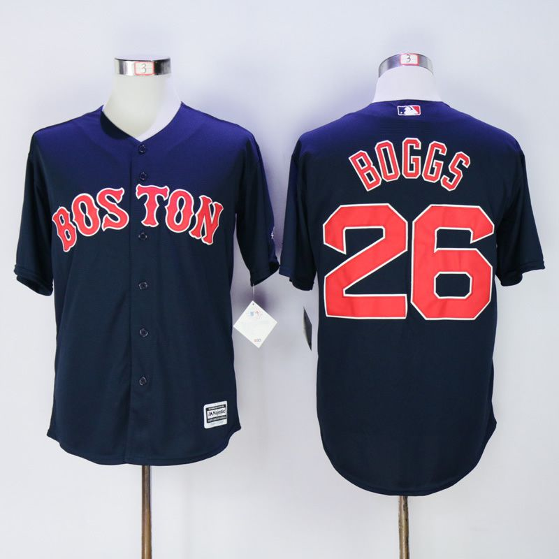 Men Boston Red Sox 26 Boggs Blue MLB Jerseys