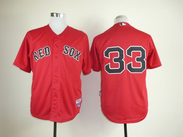 Men Boston Red Sox 33 Varitek Red MLB Jerseys