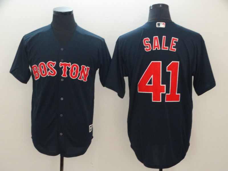 Men Boston Red Sox 41 Sale Blue Game MLB Jerseys