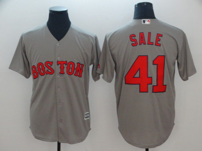 Men Boston Red Sox 41 Sale Grey Game MLB Jerseys