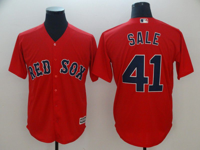 Men Boston Red Sox 41 Sale Red Game MLB Jerseys