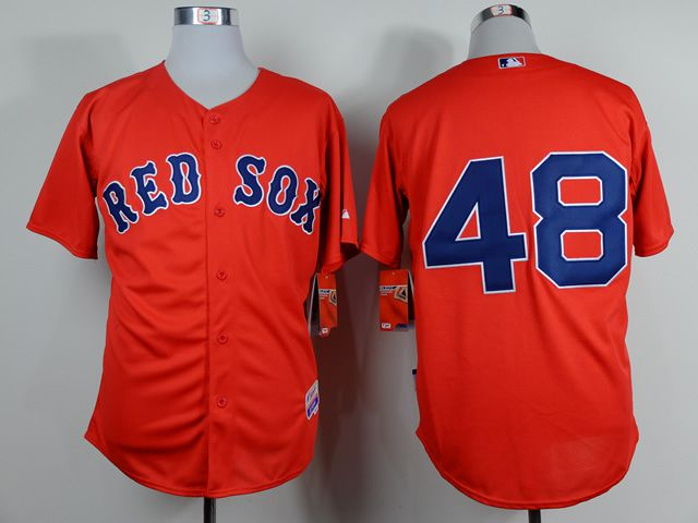 Men Boston Red Sox 48 Sandoval Red MLB Jerseys