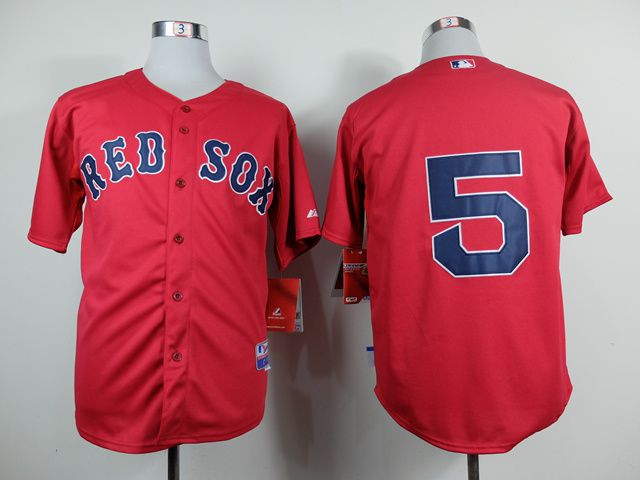 Men Boston Red Sox 5 Garciaparra Red MLB Jerseys1