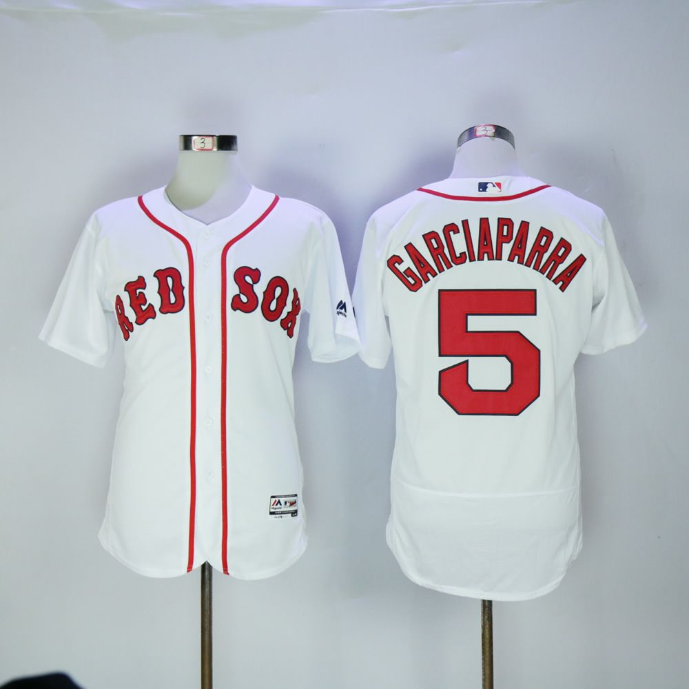 Men Boston Red Sox 5 Garciaparra White MLB Jerseys