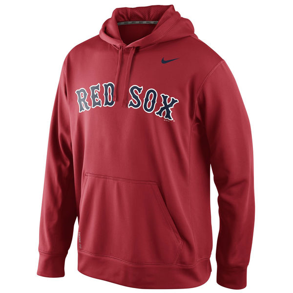 Men Boston Red Sox Nike KO Wordmark Perfomance Hoodie Red