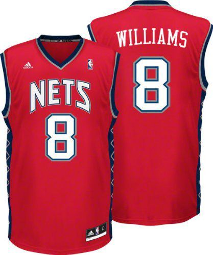 Men Brooklyn Nets 8 Deron Williams Red Revolution 30 Stitched NBA Jersey