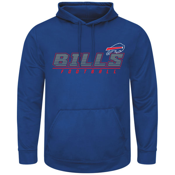 Men Buffalo Bills Majestic Punt Return Pullover Hoodie Royal